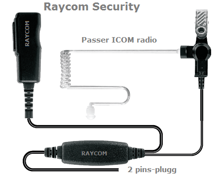Raycom Security - ICOM 2-pins plugg