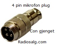 4 pin IN-LINE mikrofon plugg