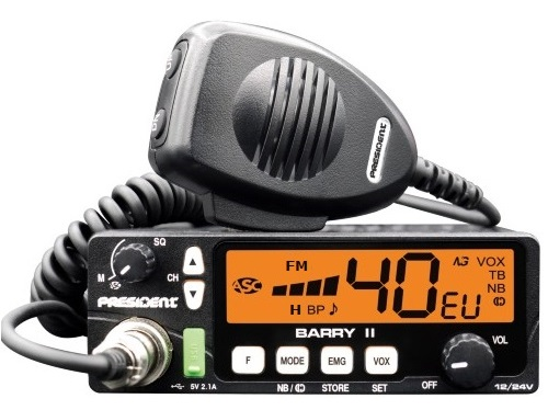 President BARRY 2 AM/FM - 4 watt 12/24volt CB Radio