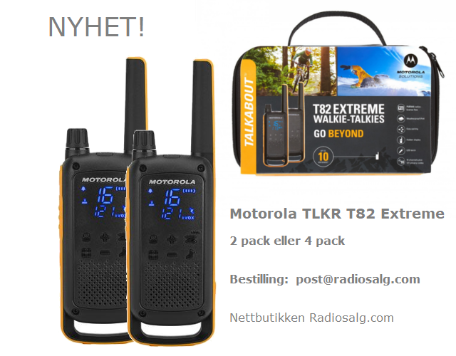 Motorola Talkabout T82 Extreme - 2 stk - Klikk på bildet for å lukke det